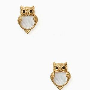 KATE SPADE INTO THE WOOD OWL STUDS STUD EARRINGS